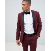ASOS DESIGN Бордовый приталенный пиджак-смокинг ASOS DESIGN - Красный