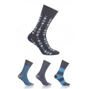 Steven Pánské ponožky Steven Suitline art.056 šedá-fialová 45-47