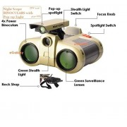 Mahvi Toys Night Scope Spy Binoculars With Pop-Up Light