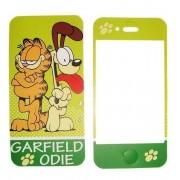 Folie protectie cu design iPhone 4 / 4S - Garfield Odie ( fata + spate )