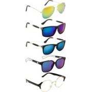 NuVew Aviator Sunglasses(Blue, Clear, Golden, Green, Blue)