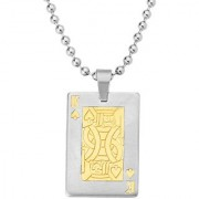 Dare by Voylla Faith and Trust Playing Card Badshah Pendant
