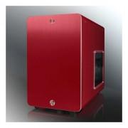 Carcasa Raijintek STYX Red, Window Black, Aluminiu, Slim DVD bay, 2 x USB 3.0, Decupaj transparent, Tool-free, Ventilator 120mm