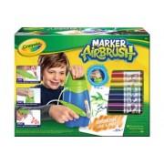 Crayola Marker AirBrush Pulverizator Micul Artist albastru