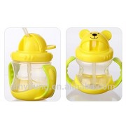 Zyamalox Classic Baby Sipper (Green/Blue) Easy Grip For Little Hands (Colour and design as per availability)