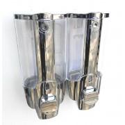 Dubbele Navul zeepdispenser chr/tr 2 x 350 ml