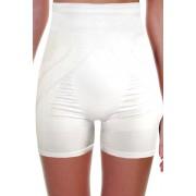 Kelsa Slim vysoké stahovací kalhotky s nohavičkou L bílá