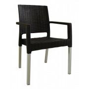 Baštenska stolica Ratan Lux, tamno braon (Venge boja)