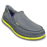 Crocs Men's Stretch Sole M Charcoal and Citrus Casual Loafers and Mocassins - M11