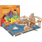 Circuit roller-coaster cu bilute de marmura din lemn model STEM Smartivity