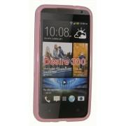 Силиконов гръб ТПУ за HTC Desire 300 Розов
