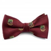 Tailor Toki Bordeauxfarbene Fliege mit Emblemen