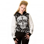 kapucnis pulóver női - Black - BANNED - HBN051