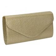 GLORIUSS Elegancka torebka kopertówka złota