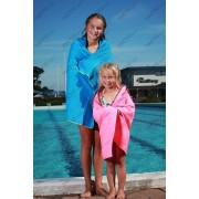 """Mamsten uszodai és fitnesstermi extra nagy gyors törülköző, kék, extra nedvszívó """"L"""" 130x80 cm"""