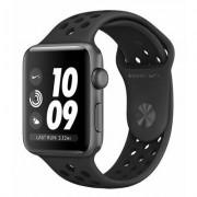 Apple SmartWatch APPLE Watch Nike+ Series 3 GPS Koperta 38 mm z aluminium w kolorze gwiezdnej szarości z paskiem sportowym Nike w kolorze antracytu/czarnym MTF12MP/A