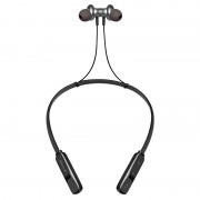Wireless Bluetooth 4.2 In-ear Sports Magnetic Neckband Earphone with Microphone - Black