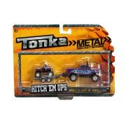 Minimodel metalic cu remorca si ATV mov