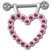 Helix Heart Diamond - Pink (piercing)