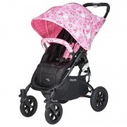 Valco Carucior sport cu roti gonflabile SNAP 4 CZ Edition White and Pink Flowers