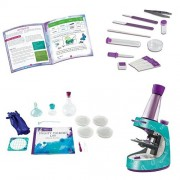 Educational Insights Nancy B's Science Club Microscope & Activity, Germ Journal, Mighty Microbes Lab, Learning at Home, Kid Chemistry Bundle, Stem Learning Kit, Child Science Experiments