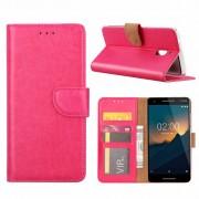 Luxe Lederen Bookcase hoesje voor de Nokia 2.1 - Roze