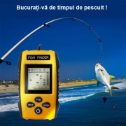 Fish Finder Portabil - sonar pentru pescuit , Senzor Adancime 100m, Pentru pescuitul la mare, lac, rau si balta