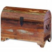 vidaXL tömör újrahasznosított fa tárolóláda