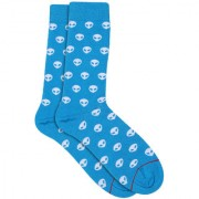 Soxytoes Minty Fresh! Cooling And Energizing Blue Cotton Calf Length Pack of 1 Pair for Men Formal Socks (STS0062)