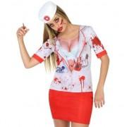 Fiesta carnavales Horror zuster verkleed shirt voor dames