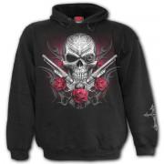 kapucnis pulóver férfi - DEATH PISTOL - SPIRAL - D080M451