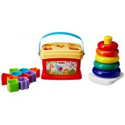 Fisher-Price 2in1 Gift Set with Baby's First Blocks & Rock A Stack