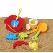 Beach Bucket sand castle Play Set- 9 Pc Set