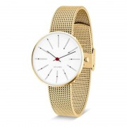 Arne Jacobsen Clocks Armbandsur Bankers Vit/guld/matt guld 34 mm Arne Jacobsen Clocks