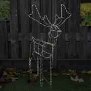 Kaemingk Ozdoba bożonarodzeniowa Rendier LED barwa ciepło biała 110cm