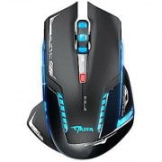 E-3LUE 2.4GHz Wireless Gaming Mouse 2500 DPI Blue LED Professional Wireless Mouse Mice for PC Mac (Black)