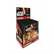 STAR WARS THE FORCE AWAKENS PART 1 STICKER COLLECTION ~ TOPPS ~ 50 STICKERS (Full Box) by Topps