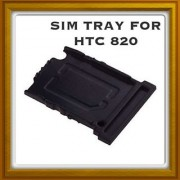 New Sim Card Slot Tray Holder - Replacement Part For Htc Desire 820 - Black