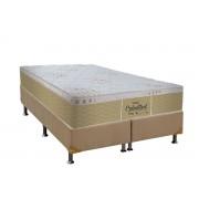 Conjunto Cama Box - Colchão Probel de Mola Pocket Celestial Springs Plus Pillow Euro + Cama Box Universal Nobuck Bege Crema - Conjunto Box King Size - 193 x 203