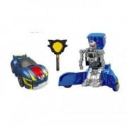 Robot transformer albastru cheie galbena