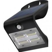 Goobay Lampada LED Solare a Muro 3,2W IP65 Sensore di Movimento Nero