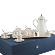 Set Cafea 6 persoane Silver Chinelli made in Italy