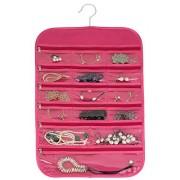 FloridaBrands 31-Pocket Hanging Jewelry Organizer, Pink
