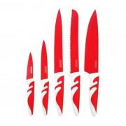 Set 5 cutite Banquet SIMBIO Rosso cu suprafata anti-aderenta