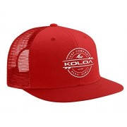 Joe's USA Koloa Surf Gorro de Malla para Tabla de Surf con Logotipo en 12 Colores, Blanco, Rojo (Red with White Embroidered Logo), Talla única