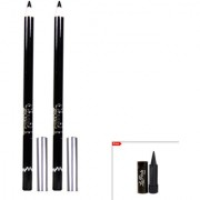 Glam21 Glimmersticks Black Eye Liner For Eyes Lips Set of 2 With Kajal-E01