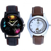 Black Dial 3D Designer And Brown Peacock Couple Analogue Watch By Vivah Mart