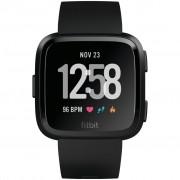 Ceas Smartwatch Fitbit Versa, HR, Silicon, Black Aluminum, Curea Black