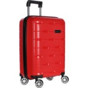 Nasher Miles Santorini Polypropylene Hard-Sided Cabin Luggage Bag Red 20 Inch | 55CM Trolley/Travel/Tourist Cabin Luggage - 20 inch(Red)
