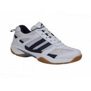 FOOTFIX Unisex RYDE White Navy (Non-Marking) Badminton Shoes (Size6 Uk/Ind)